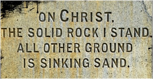 """The Solid Rock"" from ""Gospel Hymns for Daily Strength"" facebook page)"