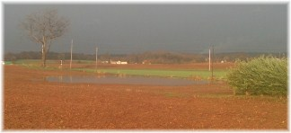 Flooded field from Hurricane Sandy