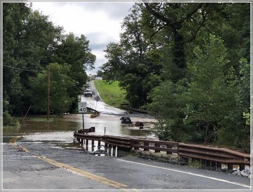 Little Chique's Creek flooding 8/4/18
