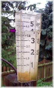 Memorial Day storm rain gauge 5/31/10