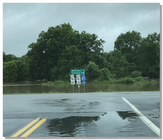 Swatara Creek flooding 7/24/18