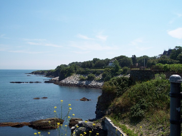 Cliffwalk in Newport, Rhode Island (click on photo to enlarge)