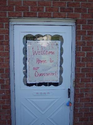 "Photo of ""Overcomer"" sign"