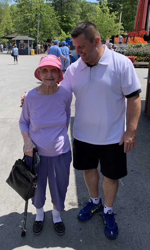 Knoebel's Park 102 year old guest 7/16/19