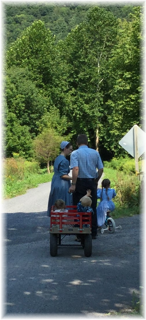 A Plain family on the Pine Creek Rail Trail 8/16/15