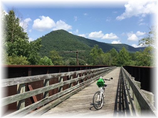 Railroad bridge on Pine Creek rail trail near Blackwell 8/16/15