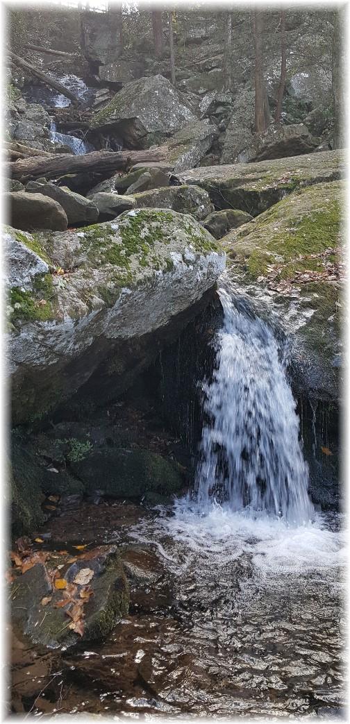 Acriggs Falls at Bordner Cabin in Swatara State Park 10/31/17