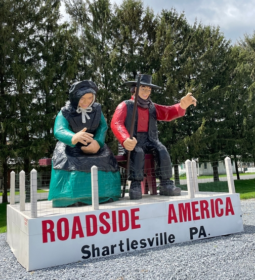 Roadside America Amish couple