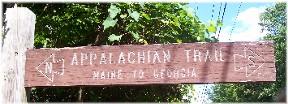 Appalachian Trail sign 7/1/11