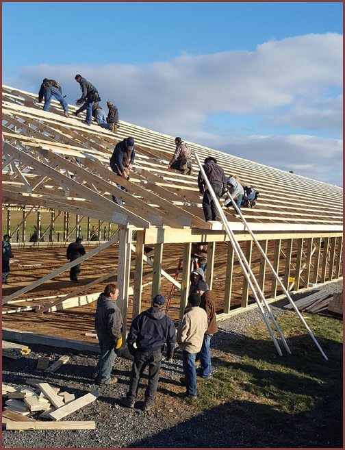 Barn raising in Lebanon County, 11/29/18