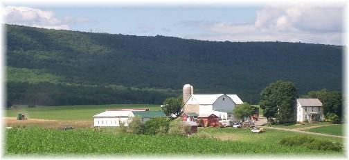 Berks County PA Blue mountain farm scene 7/1/11