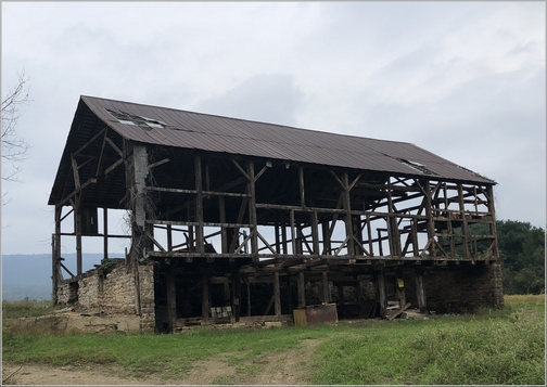 Berks County Barn remains 10/2/18 (Click to enlarge)