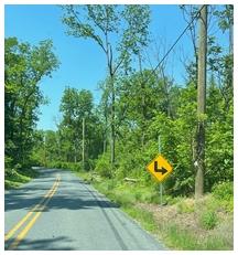 Berks County Road sign