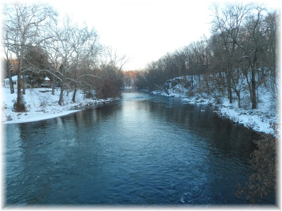 Tulpehocken Creek in Berks County, PA 12/16/13 (Click to enlarge)
