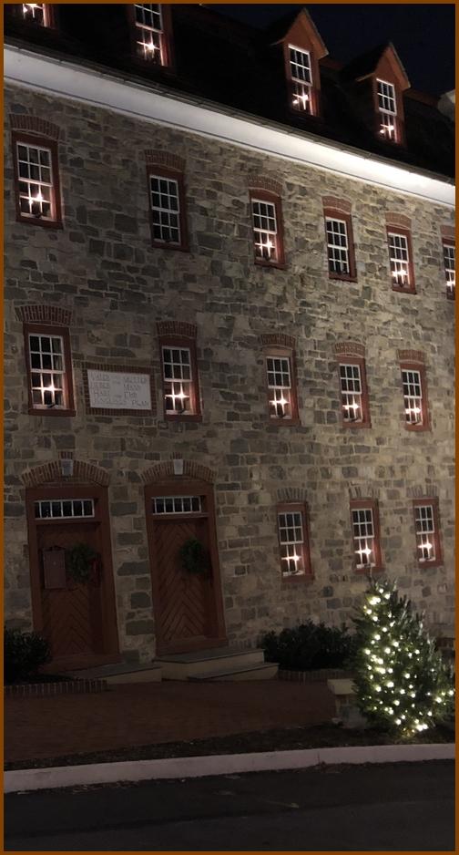 Bethlehem Moravian stone building 12/25/18