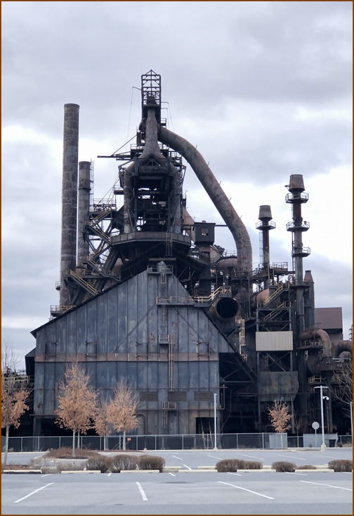 Bethlehem Steel blast furnaces 12/25/18 (Click to enlarge)