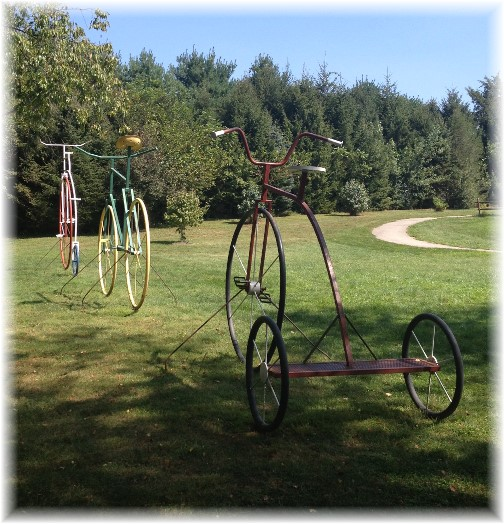 Bikes along York Heritage Rail Trail 9/8/15