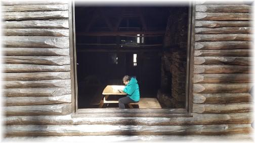 Interior of Bordner Cabin in Swatara State Park 10/31/17