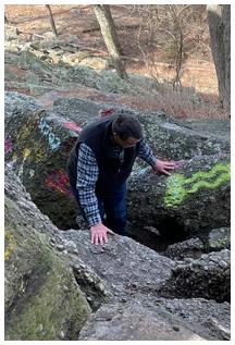 Scrambling on Boxcar Rocks