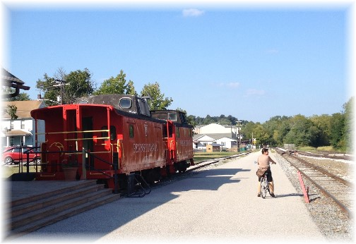 Cabooses In New Freedom, PA along York Heritage Rail Trail 9/8/15