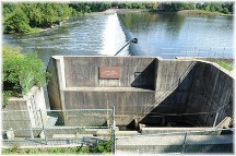Chain dam on Lehigh River near Easton PA