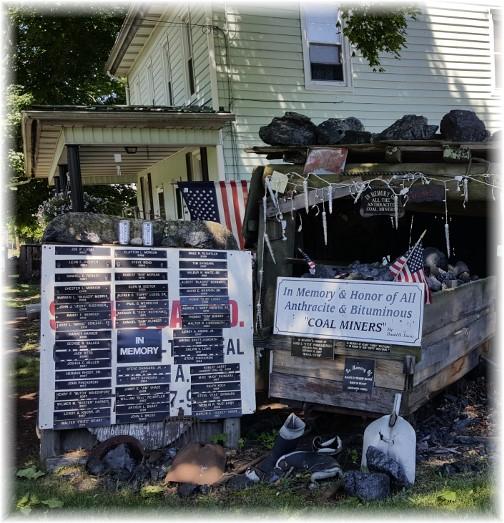 Coal miner memorial in Hegins, PA 6/20/17