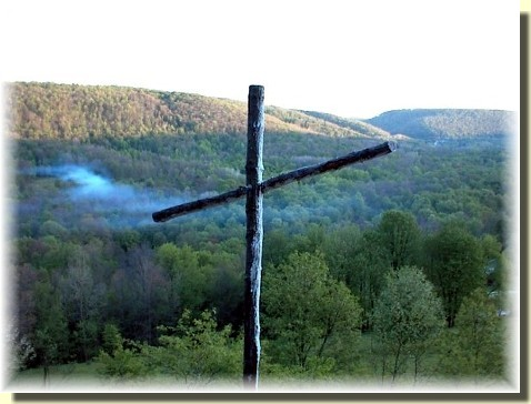Cross on mountain in northern PA