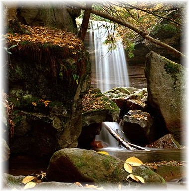 Cucumber Falls in Ohiopyle State Park, PA (photo by Howard Blichfeldt)