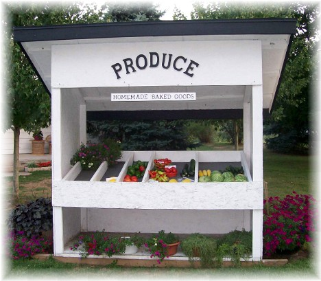 Roadside produce stand in Cumberland County PA