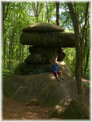 Dinosaur Rock in Lebanon County PA 7/31/10
