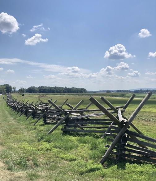 Gettysburg battlefield fence 8/18/19