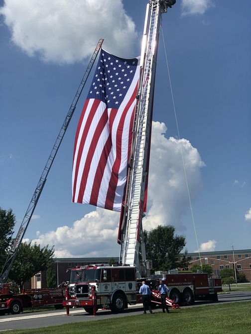 Flag in Gettsyburg, PA 8/18/19