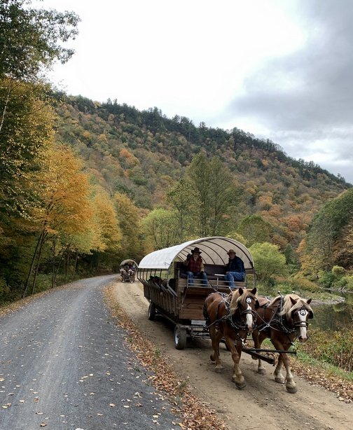 Grand Canyon wagon ride