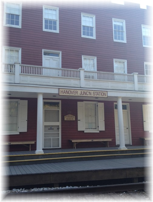 Hanover Junction Rail Station on York Heritage Rail Trail 9/8/15