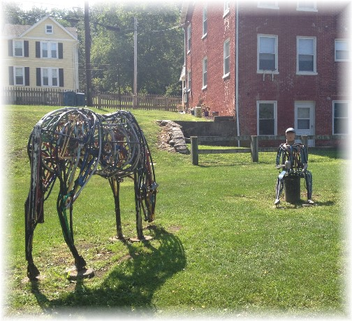 Hanover Junction sculpture on York Heritage Rail Trail 9/8/15