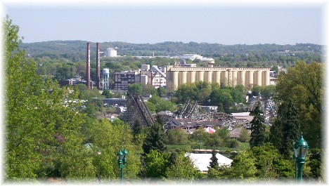 View of Hershey, PA from Hotel Hershey