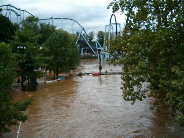 Hershey park flooded 9/7/11
