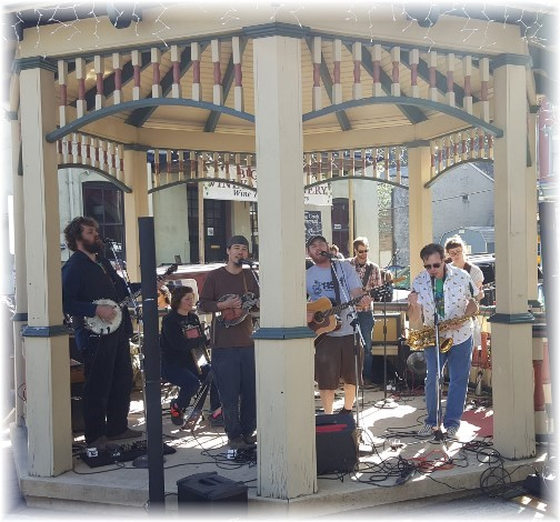 """Jim Thorpe, PA bandstand on """"Earth Day"""" 4/23/16"""