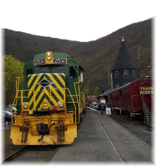 Jim Thorpe, PA train and train station 4/23/16