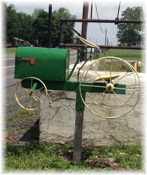 Tractor mailbox in rural PA