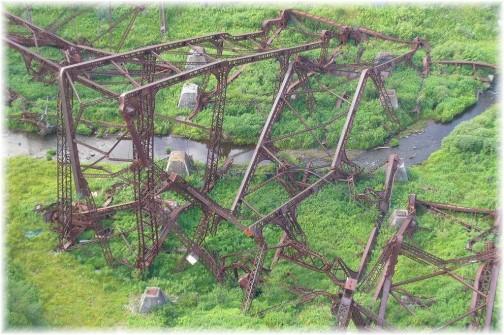 Kinzua Bridge debris