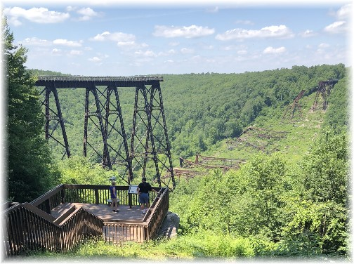Kinzua Bridge overlook 6/30/18 (Click to enlarge)