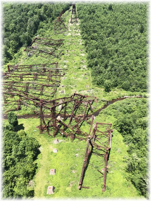 Kinzua Bridge ruins through valley 6/30/18