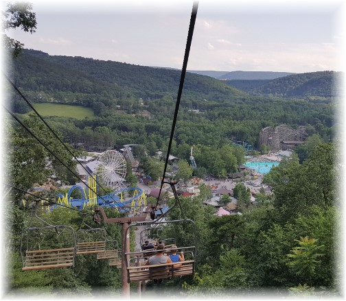 Knoebels Park from tram, Columbia County, PA 7/4/17