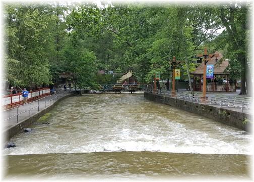 Knoebel's Park swollen creek 7/25/17