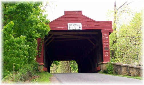 Kutz's Mill covered bridge in Berks County, PA