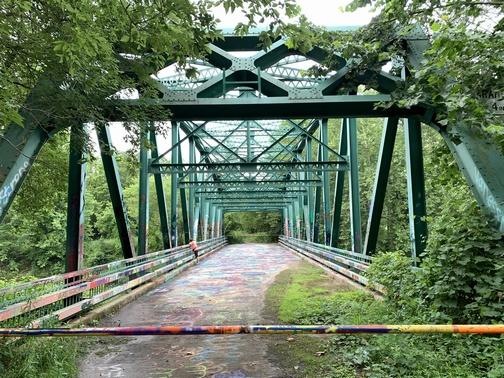 Old iron bridge along the Lamb's Creek Trail, Mansfield, PA