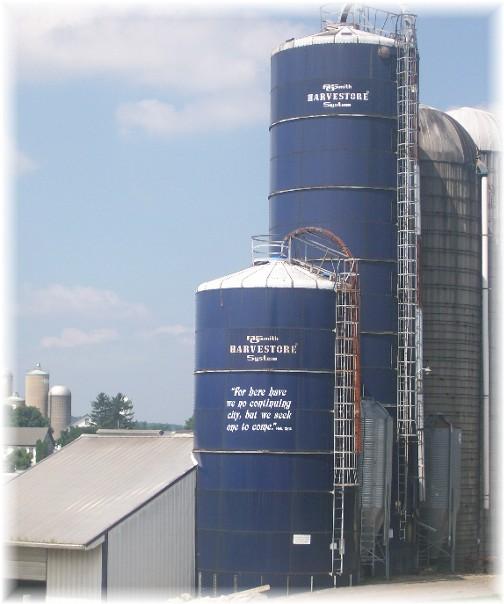 Message on Lebanon County silo