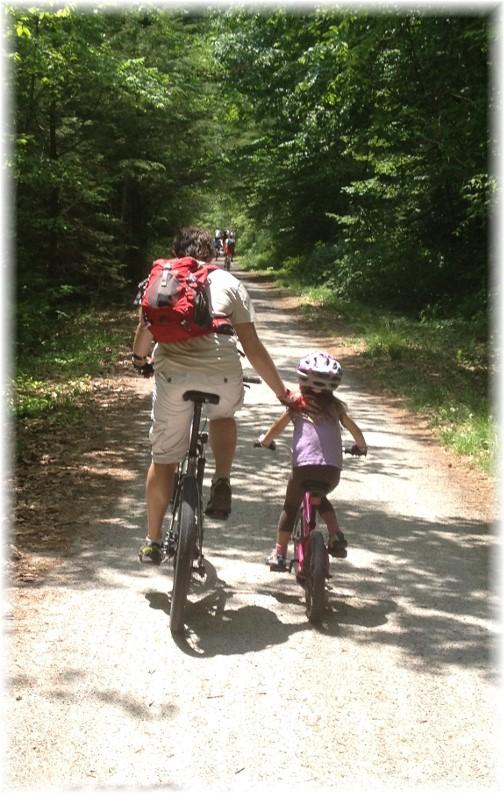 Lehigh River Gorge bike trail, Poconos, PA 5/30/15