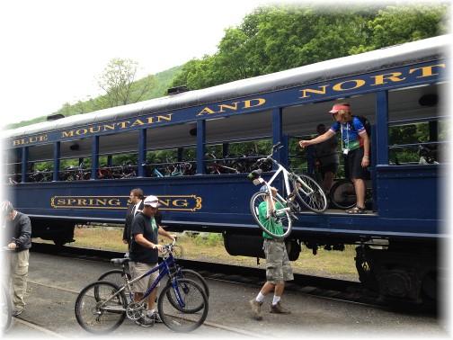 Lehigh River Gorge train, Poconos, PA 5/30/15